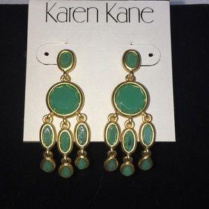 NWT Karen Kane Baja Jade Chandelier Drop Earrings